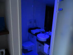 Public Bathroom Blue Light