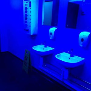 bathroom blue light
